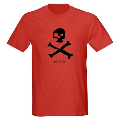 Mens Shirt - Pirate. Red