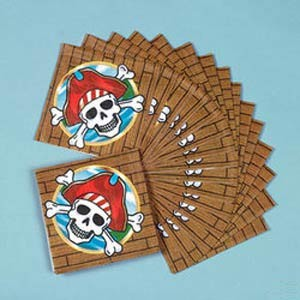 Pirate Party Napkins - 5""