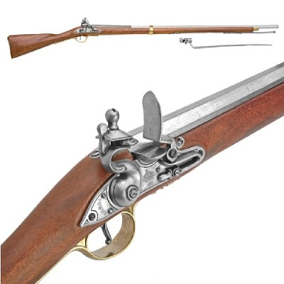 Pirate Musket - Brown Bess w. Bayonet