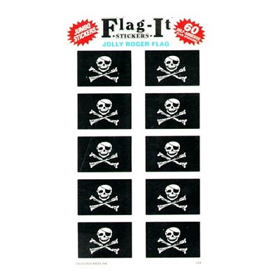 Jolly Roger Flag Decals - 60 pk