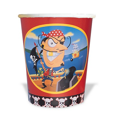 Gold Tooth Pirate Paper Cups