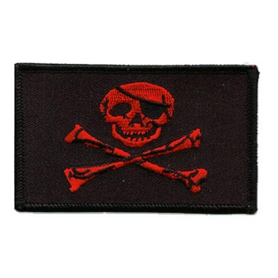Pirate Patch - Red Jolly Roger