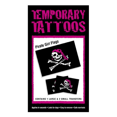 Pirate Tattoos - Pirate Girl Flag
