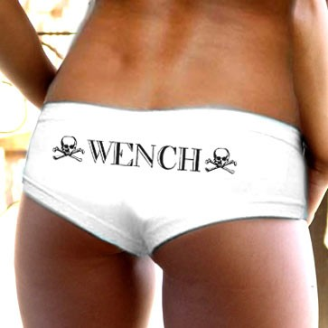 Pirate Booty Shorts - Wench - White
