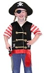 Kids Pirate Role Play Costume Set